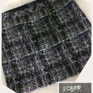 J. Crew  tweed mini skirt